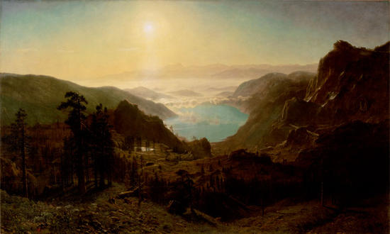 Donner Lake from the Summit, 1873 Alfred Bierstadt