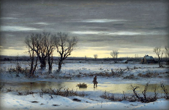 Winter Twilight near Albany, New York, Boughton